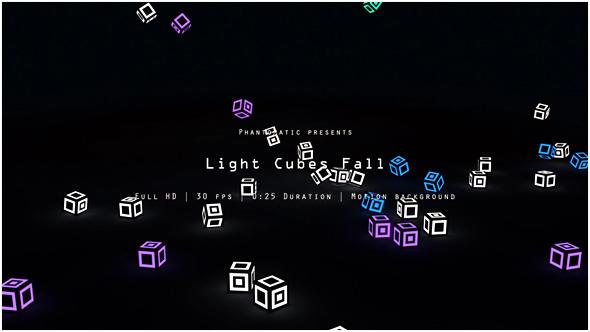 Light Cubes Fall