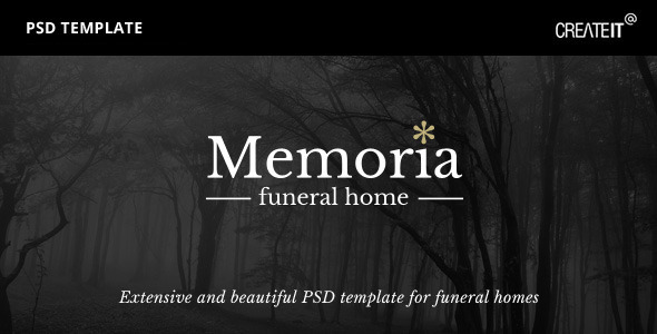 ThemeForest Memoria Funeral Home PSD Template 11695150