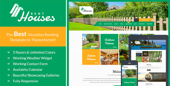 ThemeForest Houses Vacation Rentals HTML Template 11695205