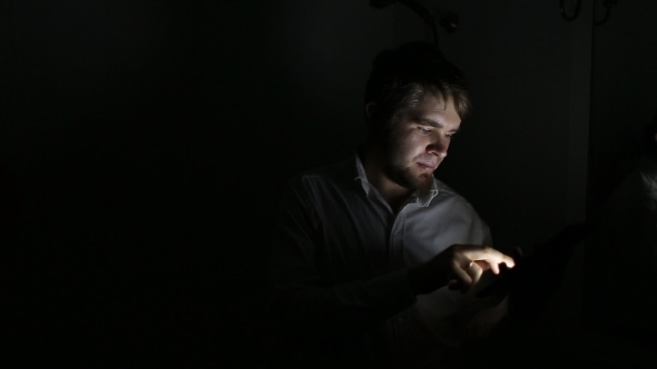 Man Using a Tablet PC