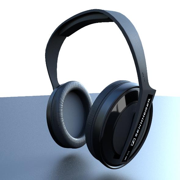 Headphones - HD Sennheiser - 3DOcean Item for Sale