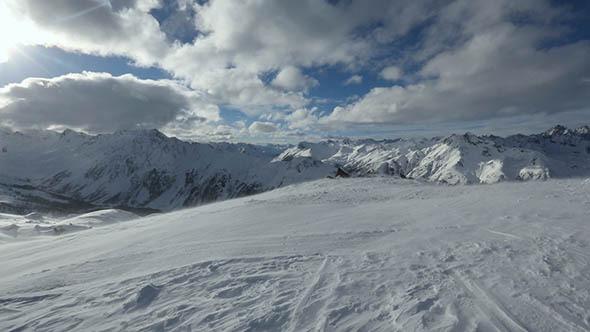 Silvretta Alps Winter View Austria