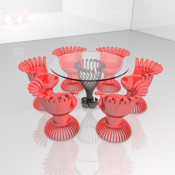 3DOcean Modern Table and Chair 11705666