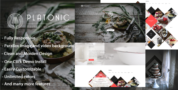 ThemeForest Platonic Restaurant & Event Wordpress Theme 11595782