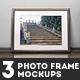 3 Photo Frame Mockups - GraphicRiver Item for Sale