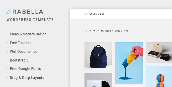 ThemeForest Arabella WordPress Portfolio Theme 11533084