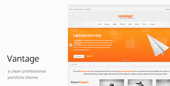 Vantage - Responsive Joomla Template - Business Corporate