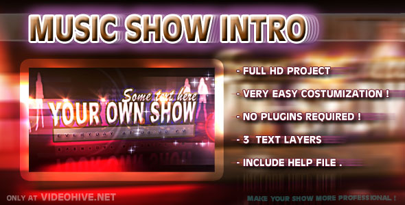After Effects Project - VideoHive Music Show Intro Disco 143782