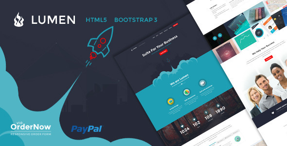 ThemeForest Lumen Multi-Purpose Bootstrap Template 11708636