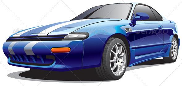 Drag Car No3 - Objects Vectors