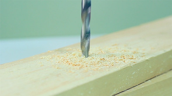 VideoHive Drilling On Wood 11710262