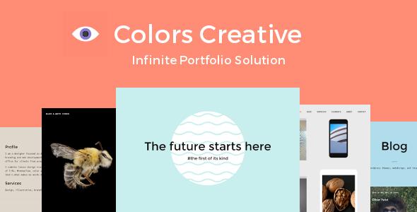Colors Creative Portfolio WordPress Theme