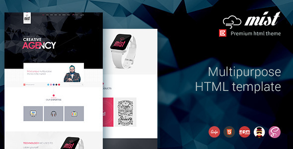 ThemeForest Mist Multipurpose HTML Template Theme 11712117