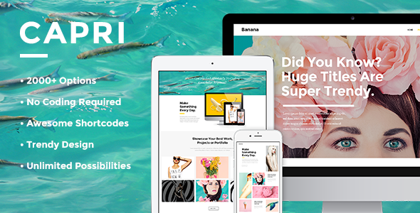 ThemeForest Capri A Hot Multi-Purpose Theme 11712189