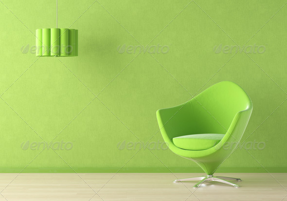 green interior scene - Stock Photo - Images