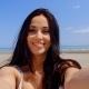 Brunette Woman Taking Self Portrait On Beach - VideoHive Item for Sale