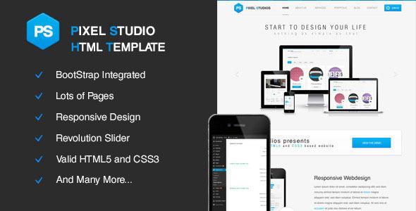 ThemeForest Pixel Studios Multi-Purpose HTML Template 11616625