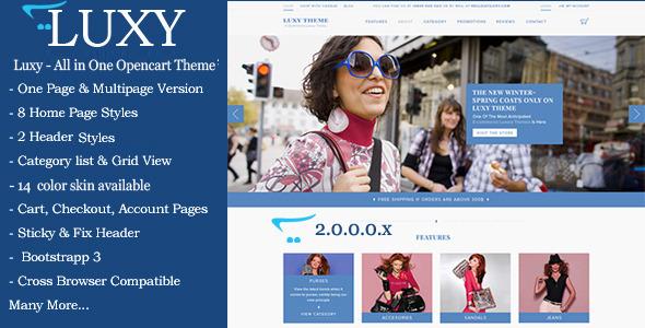 ThemeForest Luxy Responsive Opencart Theme 11638728