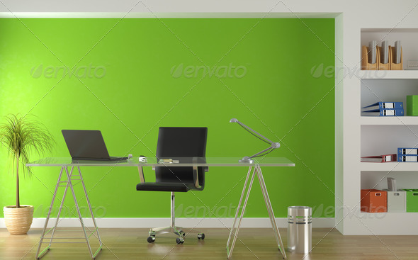 Stock Photo - PhotoDune interior design of modern green office 1176828