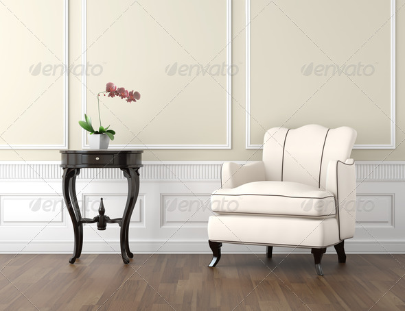 beige and white classic interior