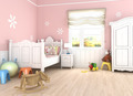 pink girl's bedroom - PhotoDune Item for Sale