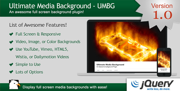 CodeCanyon Ultimate Media Background for jQuery 11715374