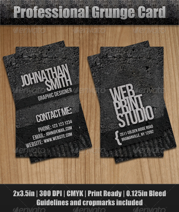 GraphicRiver Grunge Business Card 143847