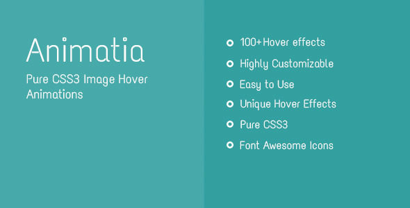 CodeCanyon Animatia CSS Image Hover Effects 11711217