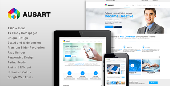 ThemeForest Ausart Multipurpose Business Template 11668305