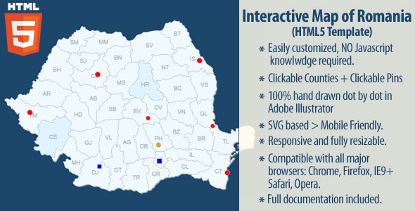 Interactive Map of Romania