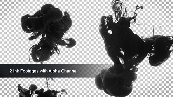 Ink in Water with Alpha Channel
