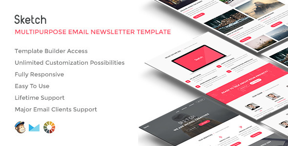 ThemeForest Sketch Responsive Email w Builder Access 11718080