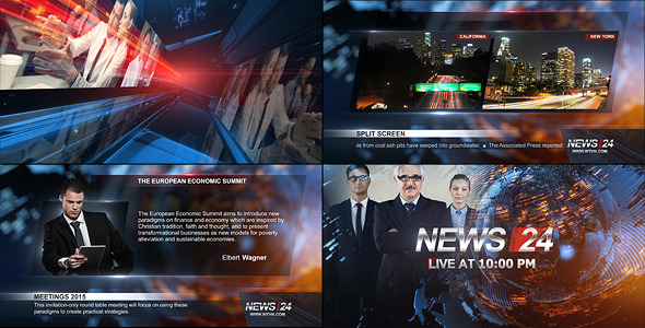Videohive Broadcast Design - News 24 Package 11719046