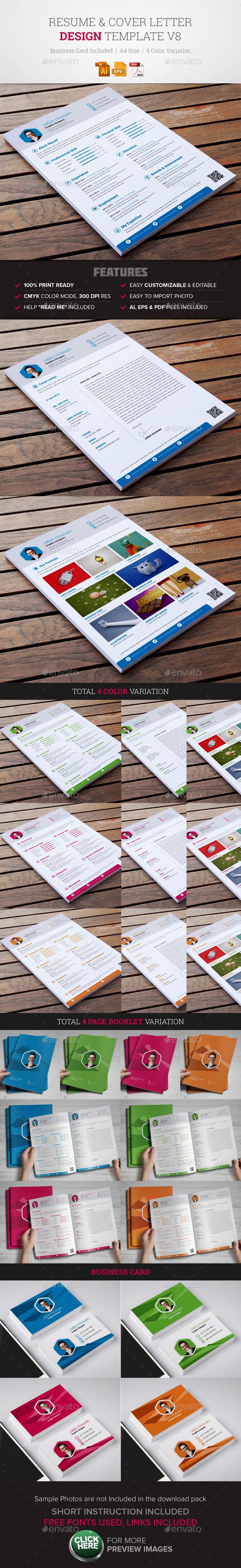 Resume & Cover Letter Template v8