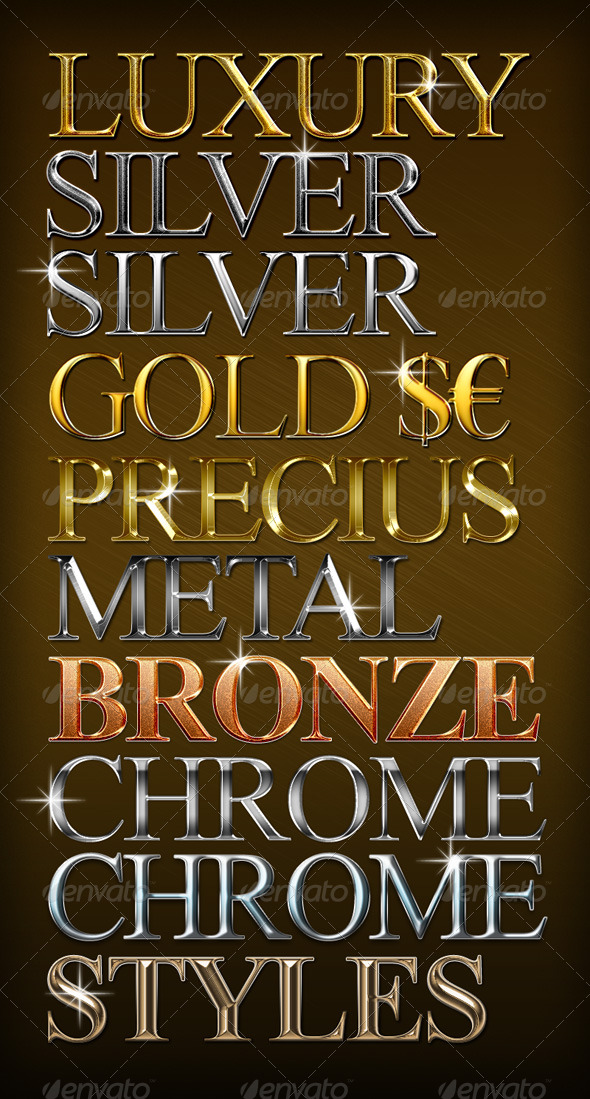 10 Luxury Metal Styles - Text Effects Styles