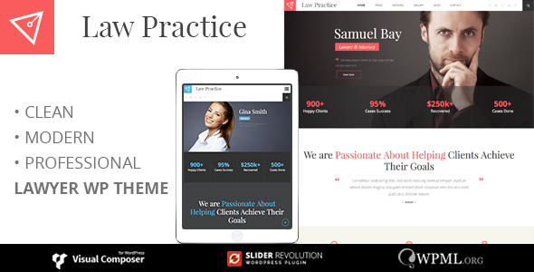 ThemeForest LAW PRACTICE Lawyer Wordpress Theme 11720576
