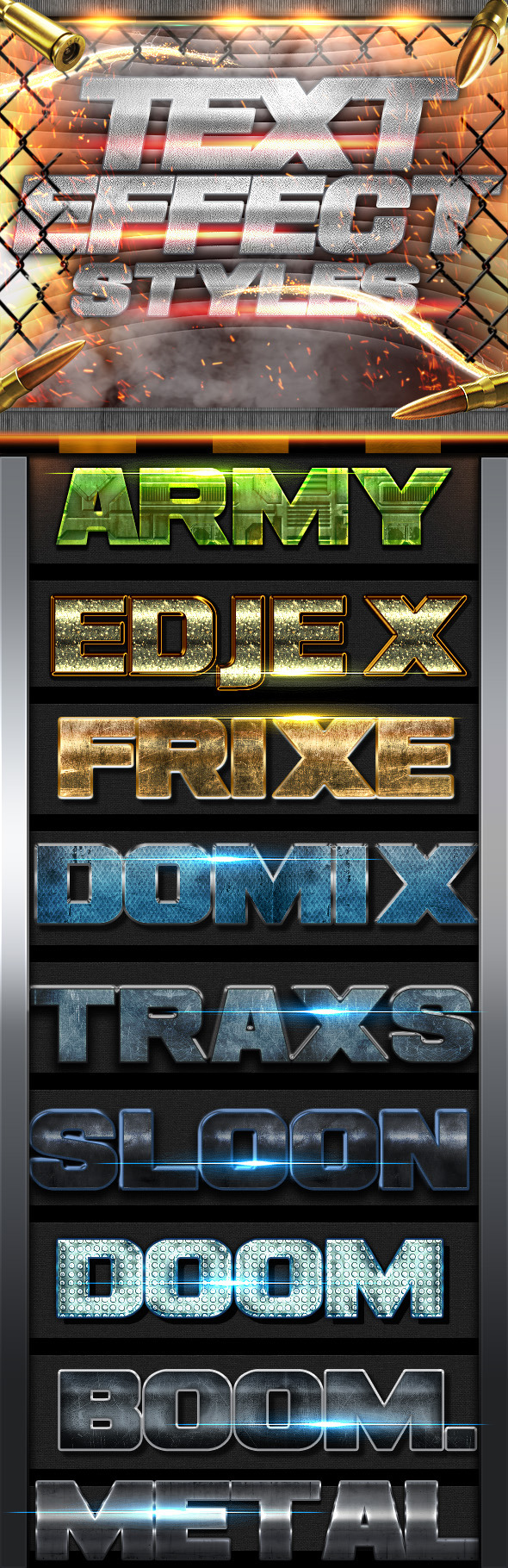 GraphicRiver Text Effects Styles FX 11720762
