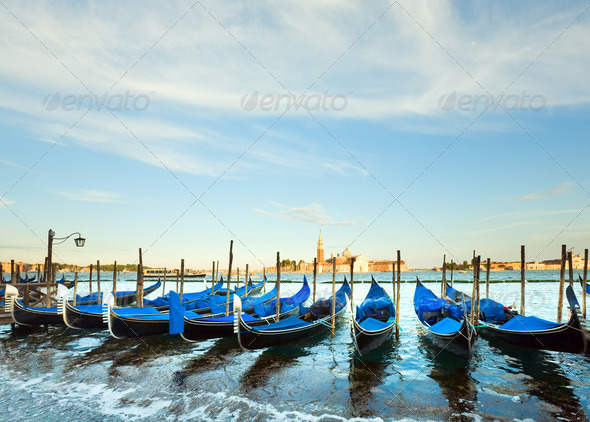 Venice gondolas - Stock Photo - Images