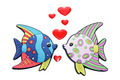 Tropical Fishes with Love Hearts - PhotoDune Item for Sale