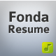 Fonda Resume - ThemeForest Item for Sale