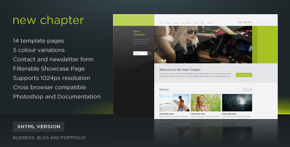 New Chapter Site Template (5 Themes) - Screenshot 01 - New Chapter Preview