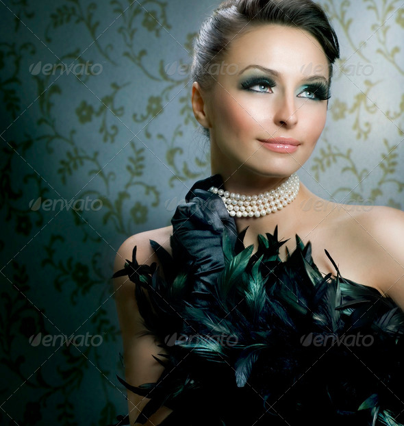 Romantic Beauty Portrait. Beautiful Luxury Girl - Stock Photo - Images