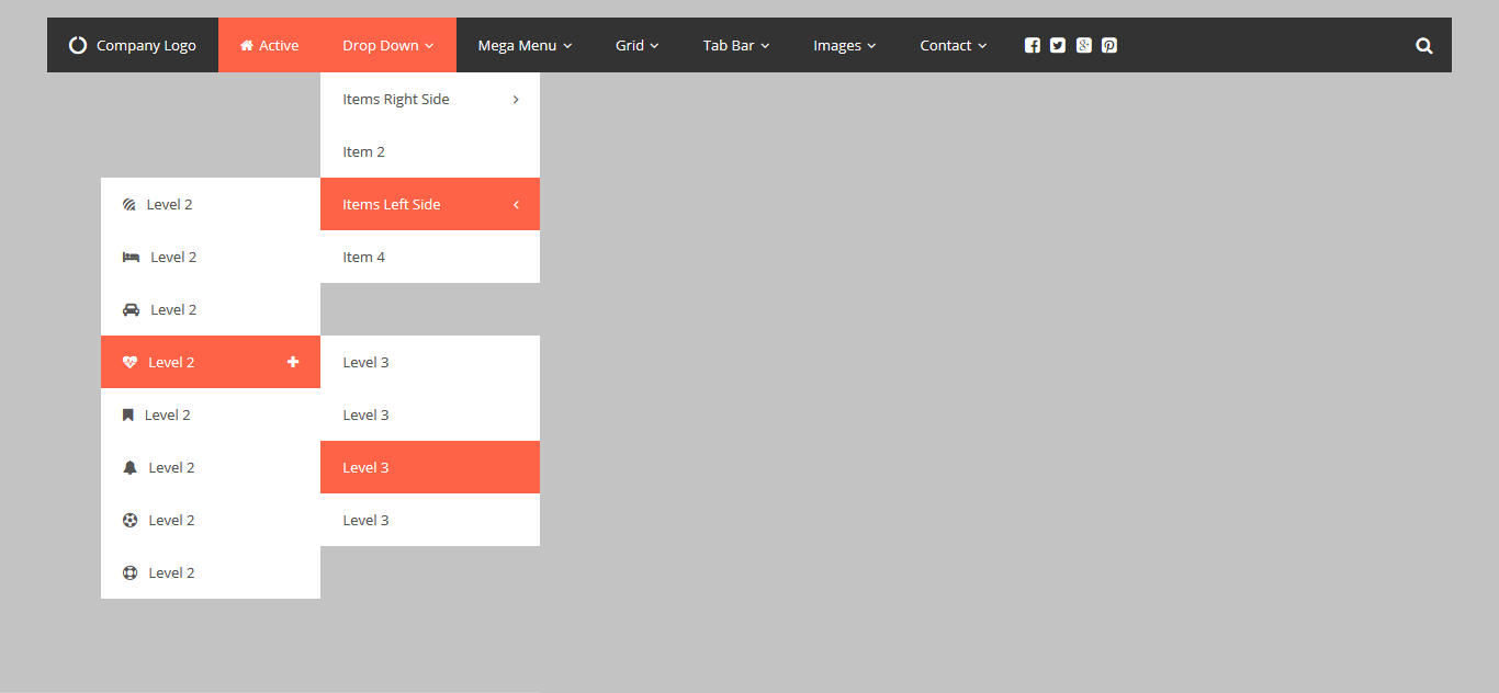 Css3 responsive mega drop down menu by thebestdesigns for Drop down menu html template