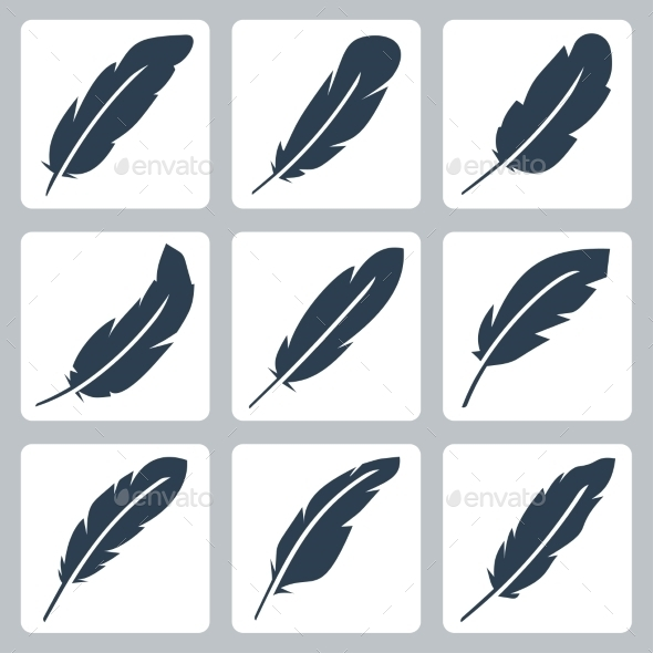 GraphicRiver Vector Feather Icons Set 11725375