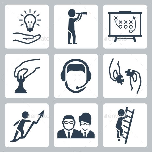 GraphicRiver Vector Conceptual Icon Set Of Success Business 11725829