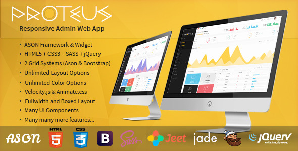 Proteus – Responsive Admin Web App (Admin Templates) Download