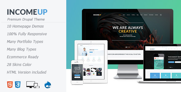 ThemeForest IncomeUp Multipurpose Drupal Theme 11625531