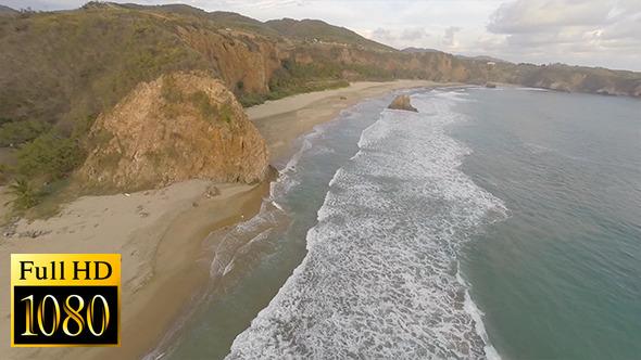 VideoHive Flying over Virgin Beach 11726858