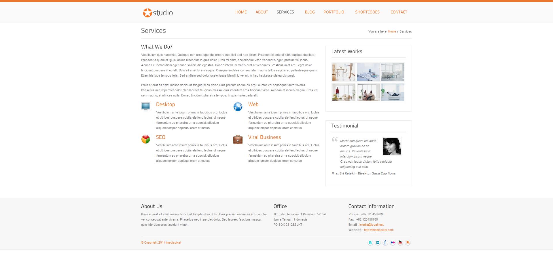 istudio - Clean and Minimalist Business Theme