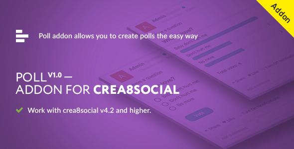 CodeCanyon Poll addon ver 1.0 for crea8social 11727767